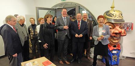 Mit viel närrischer Prominenz wurde Anfang Januar 2017 das neugestaltete Fastnachtsmuseum in Mainz im Proviant-Magazin eingeweiht. Foto: Diether v. Goddenthow
