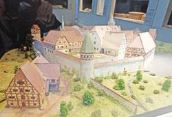 Modell Kloster Bebenhausen um 1545 im Architektur-Museum Frankfurt als Beispiel mittelalterlicher Klosteranlagen