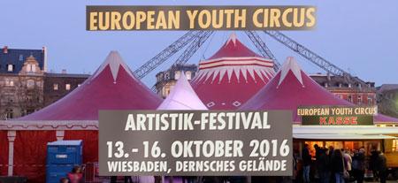 Dank einer Kooperation mit André Sarrasani , Dresden, kann der European Youth Circus das Sarrasani-Circus-Zelt nutzen. Foto-Collage: Diether v. Goddenthow