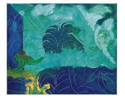 © haasner Robert Preyer (1930-2014), Strandleben I, 2013, Öl auf Leinwand, 95 x 115 cm auf Eurokunst