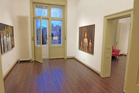 """© massow-picture: Thalhaus-Galerie, Südliches Nerothal 18 zeigte Malerei """"Echolotung"""" von Dagmar C. Ropertz."""
