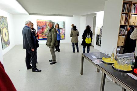 © massow-picture: Galerie Hafemann, Oranienstr. 48 stellte Werke des bekannten Künstlers Hans-Bernhard Becker aus.