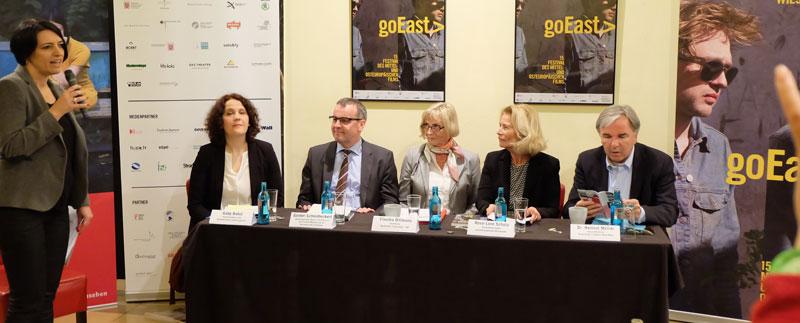 goEast-Pressekonferenz, im Filmtheater Caligari Wiesbaden.