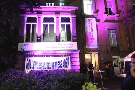 © massow-picture einer der Kunst-Tatorte: Bis  Mitternacht war der Nassauischen Kunstverein der zentrale Anlaufpunkt in der kurzen Nacht der Galerien und Museen Wiesbaden
