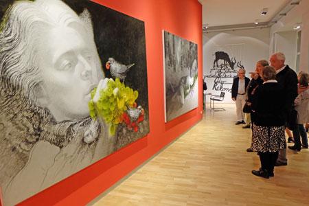 © massow-picture  23 Galerien und Museen boten qualitativ Kunst vom Feinsten , hier bei Rother-Winter in der Taunusstrasse stellvertretend für alle Teilnehmer, siehe folgende Liste der teilnehmende Galerien und Institutionen.