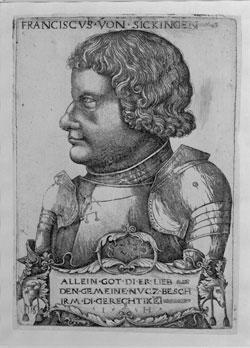 Bildunterschrift: Hieronymus Hopfer, Bildnis Franz von Sickingen, um 1520 © Landesmuseum Mainz – GDKE Rheinland Pfalz (Foto: Ursula Rudischer)