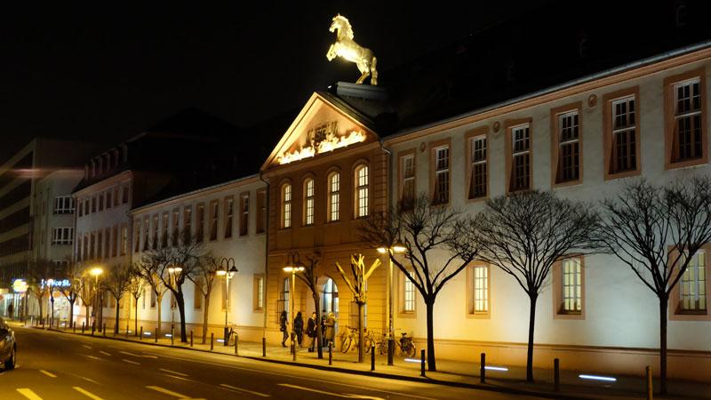 Landesmuseum Mainz bei Nacht - Mainzer Museumsnacht - die Ritter kommen