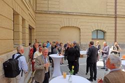 Römischer Hof mit einem Freilufttheater, hier während des Internationalen Museumstages.