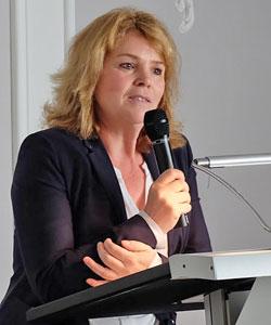 """Dr. Susanne Grötz, Projektleiterin """"Balnea"""" Stuttgart, hielt den Einführungsvortrag."""