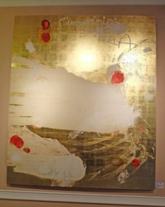 Robert Weber. I'inesprimibile nulla. Malerei auf Goldgrund und Holz. 235 cm x 200 cm, E 14.000,--