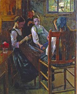 Heinz Heim, Strickschule im Odenwald, 1889
