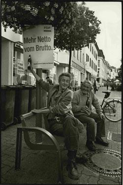 Vor der Bundestagswahl 2009. Foto: Heinz Schlömp