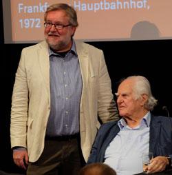 Der Journalist Claus-Jürgen Göpfert (l.),Autor des Buches über Hilmar Hoffmann schreibt seit 35 Jahren über Kultur und Politik. Foto: © massow-picture