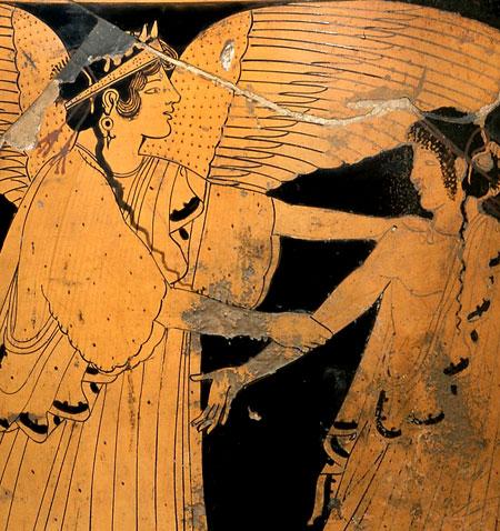 Eos, die Göttin der Morgenröte, raubt Tithonos. © Archäologisches Museum Frankfurt