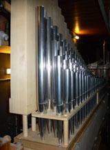 Kornett-5fach, diese wurden erst aufwendig gereinigt, jetzt müssen die Register dran. © Foto Friedhelm-Gerecke Förderverein Kurhausorgel e.V.