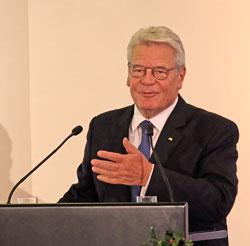 Bundespräsident Joachim Gauck hält die Festrede zur 40. IKW als Auftakt zur bundesweiten Aktion. © massow-picture