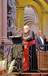 """""""Hausherr"""" Kardinal Lehmann unterstrich das Motto der 40. IKW """"Vielfalt statt Einfalt"""" und begrüßte die Gäste und Aktiven zum gemeinsamen Ökumenischen Gottesdienst im Mainzer Dom zur 40. IKW. © massow-picture"""