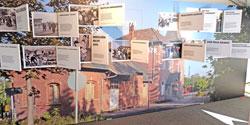 Gedenkwand zur Geschichte Niedersachens Grenzerfahrungen mit Museum Friedland © massow-picture
