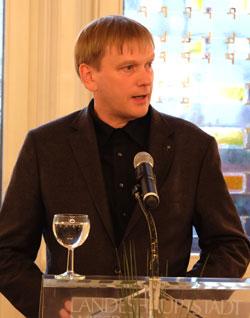 Laudator Christan Dietrich, Thüringer Landesbeauftragter zur Aufarbeitung der SED-Diktatur.© massow-picture