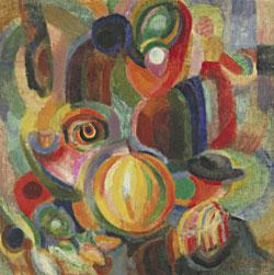Sonia Delaunay, Portugiesischer Markt, 1915, Öl und Wachsfarbe auf Leinwand, 90.5 x 90.5 cm, Digital image, The Museum of Modern Art, New York/Scala, Firenze