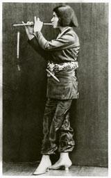 Else Lasker-Schüler, Die Flötenspielende, Frontispiz des Briefromans Mein Herz, 1912, Privatsammlung, Marbach