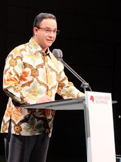 Dr. Anies Rasyid Baswedan, Minister für Bildung und Kultur der Republik Indonesien. © massow-picture