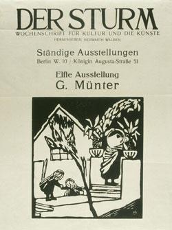Titelblatt der Zeitschrift DER STURM, Jg. 3, Nr. 138/139, Dezember 1912, Foto: Städtische Galerie im Lenbachhaus und Kunstbau, München
