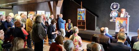 Achim Frenz begrüßt die zahlreichen Gäste. © massow-picture