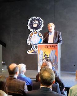 Dr. Helmut Müller, Geschäftsführer des Kulturfond Rhein-Main hatte die Ausstellung finanziell unterstützt. © massow-picture