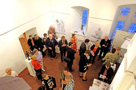 """Vernissage """"Von der Fläche zur Form"""" zum 90.  des Mainzer Bildhauers Reinhold Petermann am 9. Oktober 2015 im Kunstverein Eisenturm Mainz e.V., Fritz-Arens-Platz 1., © massow-picture"""