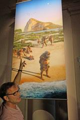 Dr. Oliver Sandrock: Funde belegen, dass Frühmenschen bereits sozial gehandelt, etwa ihre alten mitversorgt haben. Das haben wir bewusst auch in den Bildern, hier mit einem älteren Neandertaler, zum  Ausdruck bringen wollen. © massow-picture