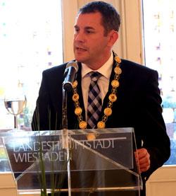 Oberbürgermeister Sven Gerich .© massow-picture