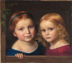 Adolf Ehrhardt Die Töchter Clara und Anna des Künstlers, 1844 Museum Wiesbaden, ©  Hessisches Landesmuseum Wiesbaden