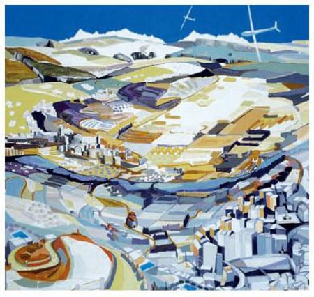 ´Provence Alpes´, 2013, Acryl auf Nessel, 180 x 200 cm