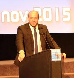 Ingmar Jung, Staatssekretär im Hessischen Ministerium für Wissenschaft und Kunst, hier bei Eröffnung des Wiesbadener 28. Filmfestes exground am 13. Nov. 2015 © massow-picture