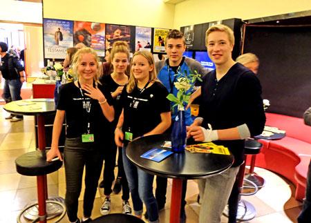 Schueler des Wiesbadener Jugendfilm-Wettbewerbs.© massow-picture