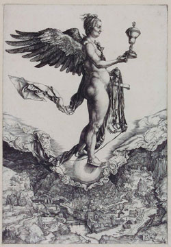 Albrecht Dürer Nemesis (Das große Glück), © Hessisches Landesmuseum Darmstadt