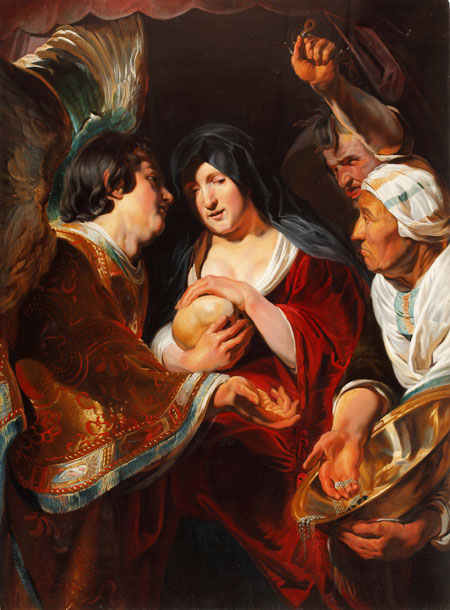 "Tafelgemälde:  ""Die Versuchung der Hl. Maria Magdalena"""