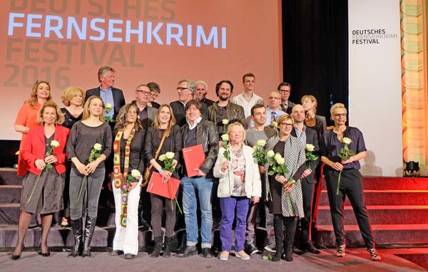 Preisträger,  Laudatoren, Juroren, Publikumsjury des Deutschen Fernsehkrimipreises 2016  Foto © massow-picture