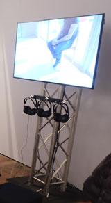 Lebensgeschichten auf Videointerviews festgehalten, die die Besucher abrufen können.