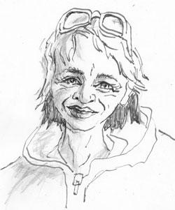Antje Dienstbir, ©  skizziert von Christine Kaiser