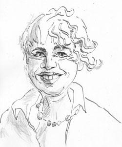 Christine Kaiser, ©  skizziert von Christine Kaiser