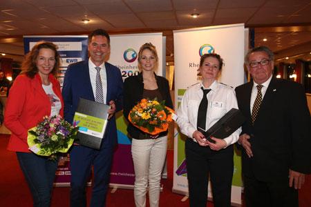 Anja Gockel, Dr. Achim Schloemer, Sabrina Becker, Ilka Wagener (KD), Peter E. Eckes (von links),© Projektbüro 200 Jahre Rheinhessen / A. Sell