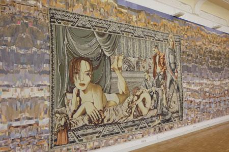 Margret Eicher Teppich bezieht sich auf ein Motiv Tizians (eigentlich Tiziano Vecellio,* um 1477 oder um 1490. © massow-picture