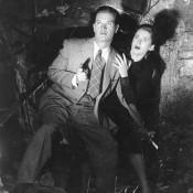 Gordon Howard und Irina Garden in DIE SPUR FÜHRT NACH BERLIN (BRD 1952, R: Franz Cap) Quelle: Deutsches Filminstitut