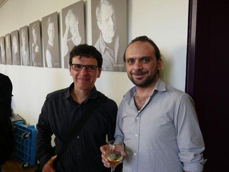 Die Writers in Exile Stipendiaten Erik Arellana Bautista (li.) und Yamen Hussein (re.) © PEN-Zentrum