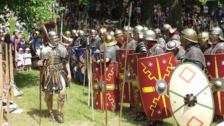 Römische Soldaten © Foto: Römerkastell Saalburg