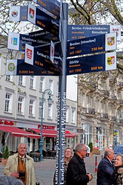Stehle der Städtepartnerschaften auf dem Dernschen Gelände. © massow-picture