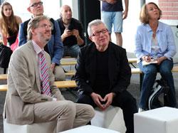 Intendant Dr. Stephan Pauly und Architekt Daniel Libeskind folgen der Rosenkranzsonate. Foto: Diether v. Goddenthow © massow-picture