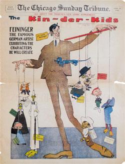 """Lyonel Feininger """"The-Kin-der-Kids"""", Sonntagsseiten 29. April 1906 © Schirn Presse"""